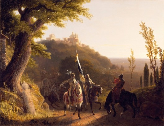 The Duke Of Bourbon's Halt At La Riccia On His March To The Assau Rome, May 3d, 1527 (1834)